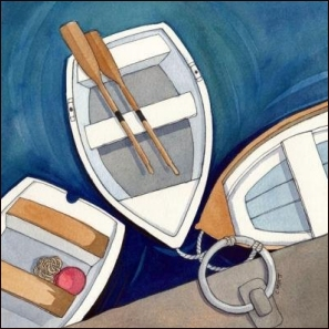 Dinghies by Claudia Myatt